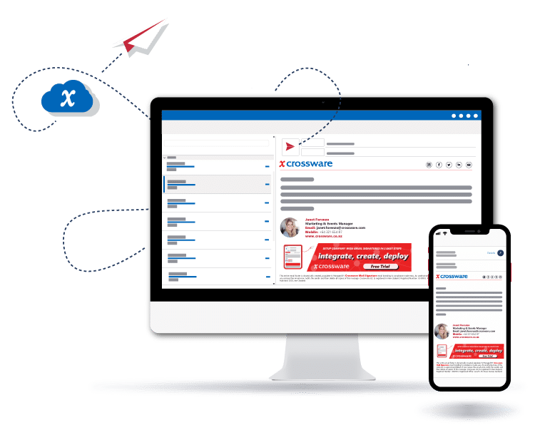 Crossware Mail Signature ensures beautiful Email Signatures from every device.