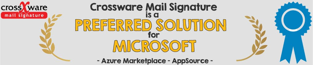 Crossware mail signature is a MS preferred solution